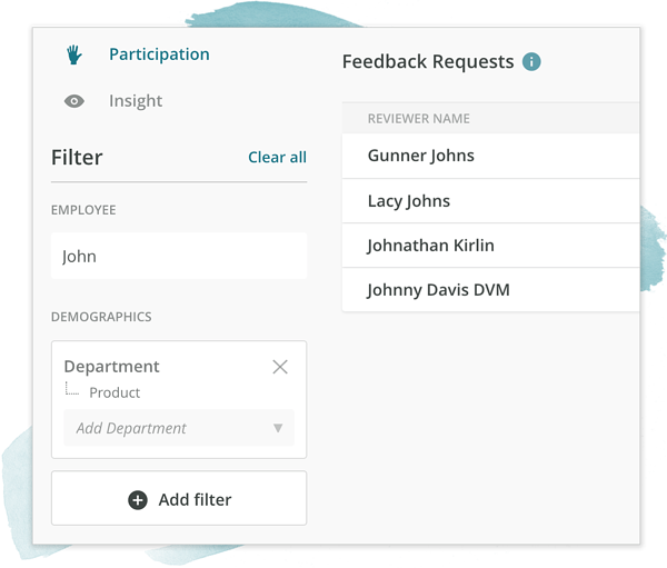 Apply demographic filters to your Effectiveness reports to understand your employee feedback
