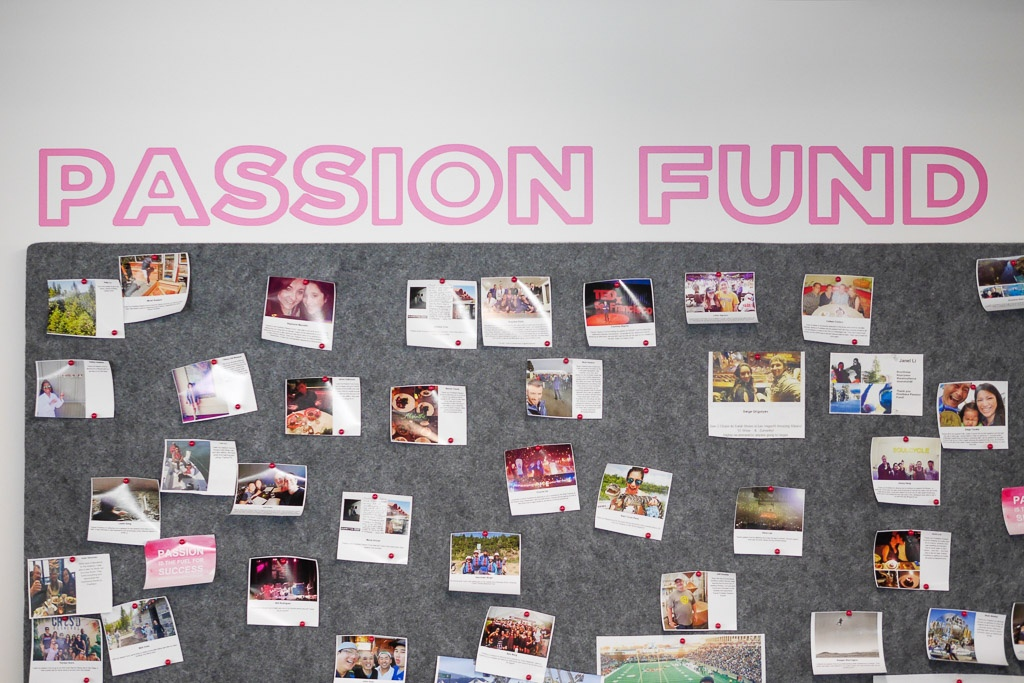 Employee engagement at FiveStars is seen on their Passion Wall