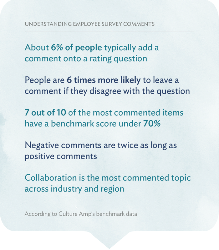 Employee survey comments infographic