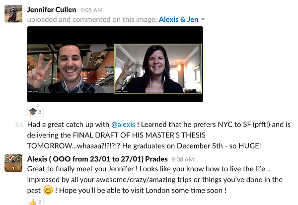 Coworkers connect | Culture Amp
