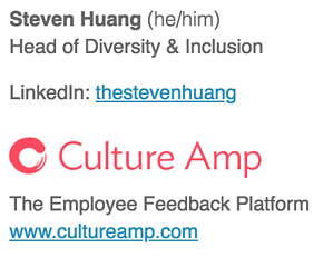 Gender pronouns in company email signature