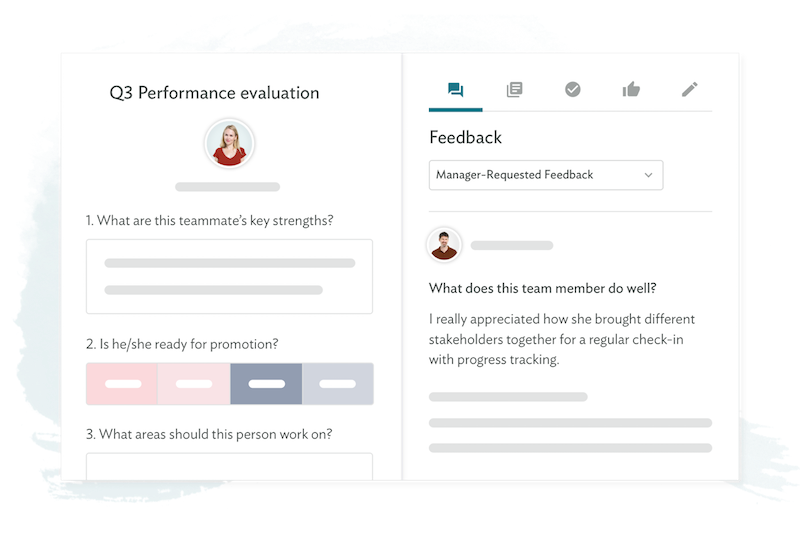 Peer performance feedback