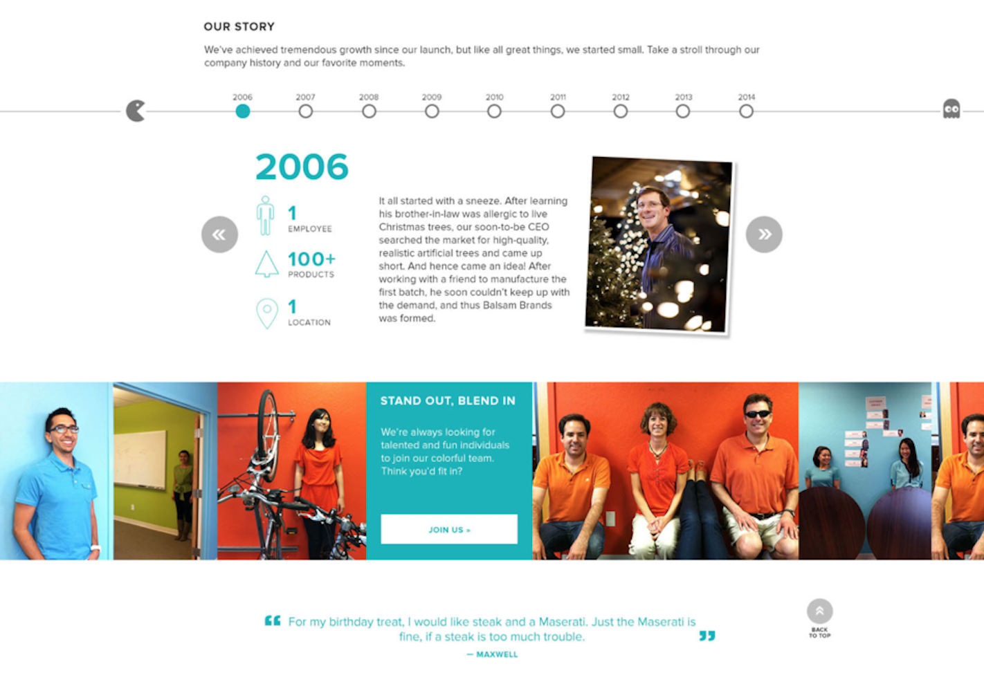Balsam brands new website reflects their employer brand